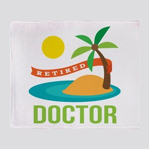 Retired Doctor Throw Blanket