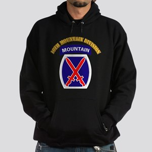 SSI - 10th Mountain Division with Text Hoodie (dar