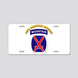 SSI - 10th Mountain Division with Text Aluminum Li