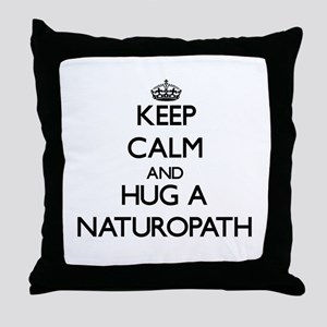 Keep Calm and Hug a Naturopath Throw Pillow