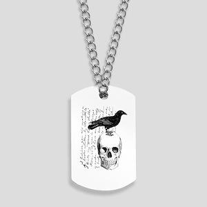Vintage Raven & Skull Dog Tags