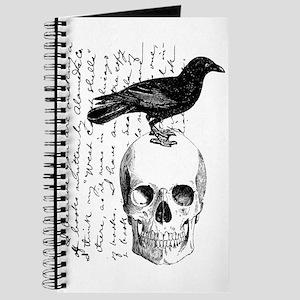 Vintage Raven & Skull Journal
