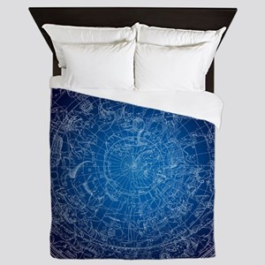 Celestial Wall Map Queen Duvet