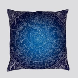 Celestial Wall Map Everyday Pillow