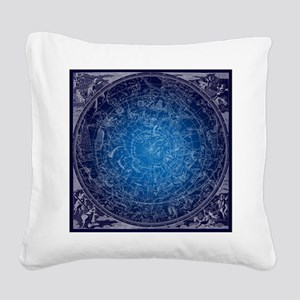 Celestial Wall Map Square Canvas Pillow