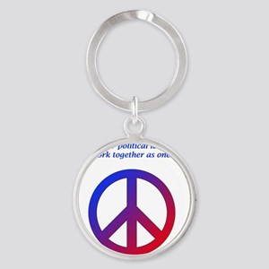 Peace In DC Round Keychain