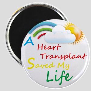 Heart Transplant Rainbow Cloud Magnet