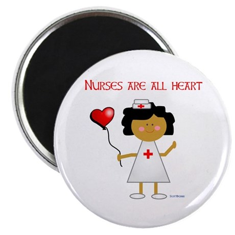 """Nurses are all heart 2.25"""" Magnet (10 pack)"""