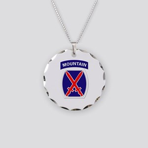 SSI - 10th Mountain Division Necklace Circle Charm