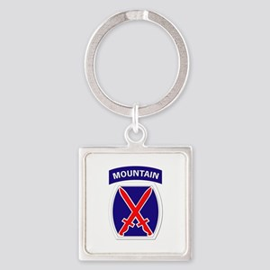 SSI - 10th Mountain Division Square Keychain