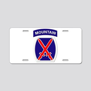 SSI - 10th Mountain Division Aluminum License Plat