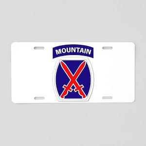SSI - 10th Mountain Division Aluminum License Plat