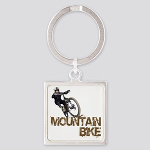 Mountain_Bike2 Square Keychain