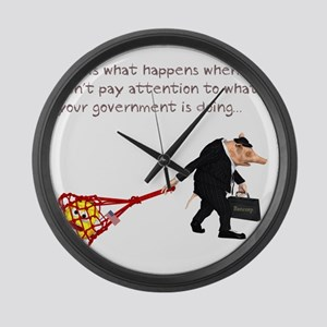 what_happens_when_you_dont Large Wall Clock