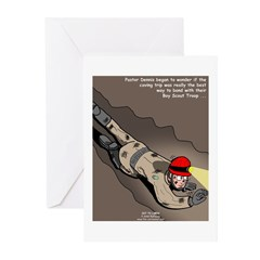 Spelunking Minister Greeting Cards (Pk of 10)