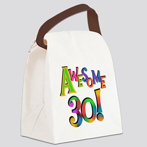 Awesome 30 Birthday Canvas Lunch Bag