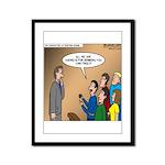 Sermon Tweeting Framed Panel Print