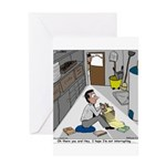 Minister in Hiding Greeting Card