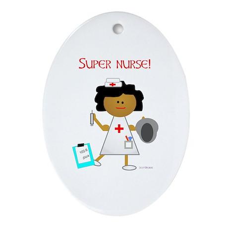 Super Nurse Oval Ornament