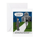 Tough Pastoral Visits Greeting Card