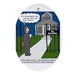 Tough Pastoral Visits Ornament (Oval)