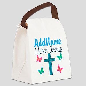 I LOVE JESUS Canvas Lunch Bag