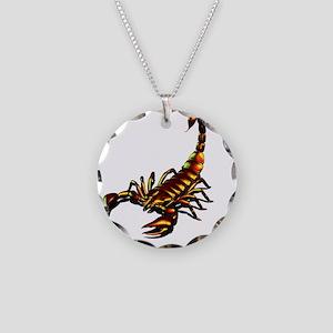 Metal Scorpion Necklace Circle Charm