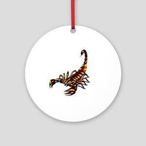 Metal Scorpion Round Ornament