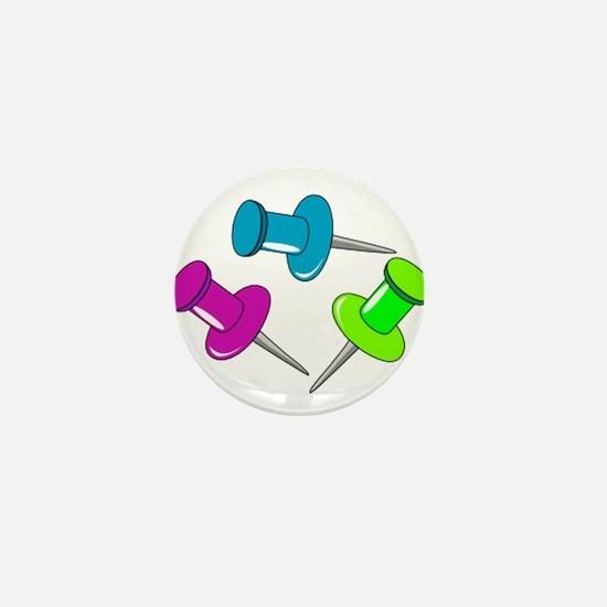 Push Pins Mini Button
