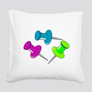 Push Pins Square Canvas Pillow