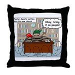 New Pastor Adjustment Throw Pillow