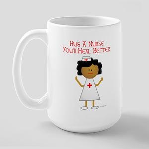Hug A Nurse Large Mug