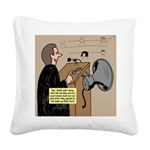 Sounding Off Square Canvas Pillow