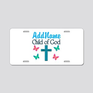 CHILD OF GOD Aluminum License Plate
