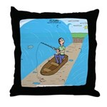 Fishing with God Throw Pillow