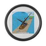 Fishing with God Large Wall Clock