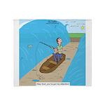 Fishing with God Throw Blanket
