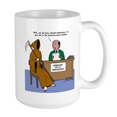 Death Applies to Seminary Large Mug