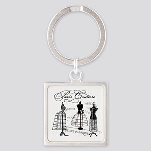 Paris Couture Mannequins Square Keychain