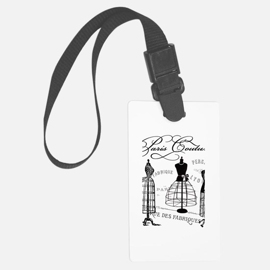 Paris Couture Mannequins Large Luggage Tag