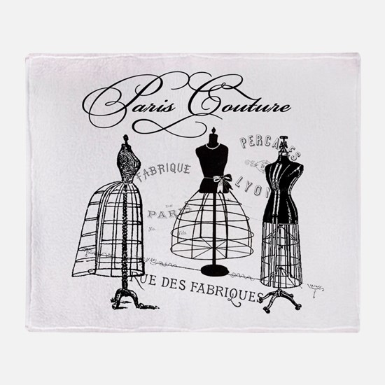 Paris Couture Mannequins Throw Blanket