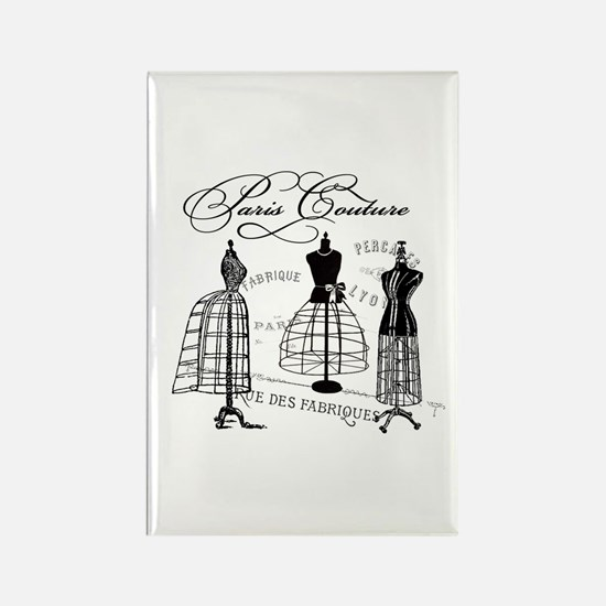 Paris Couture Mannequins Rectangle Magnet