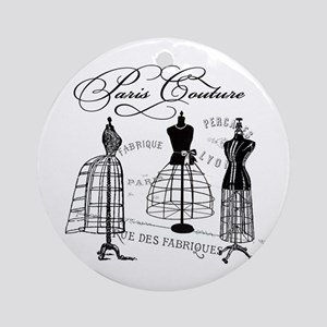 Paris Couture Mannequins Ornament (Round)