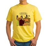 Death Works at the DMV Yellow T-Shirt