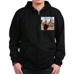 Death Works at the DMV Zip Hoodie (dark)