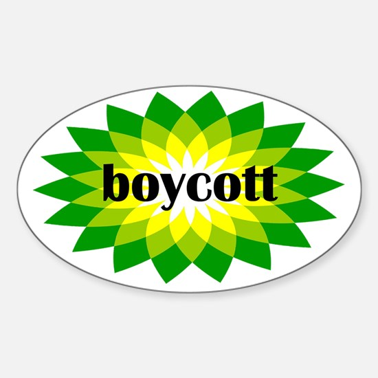 2-bp boycott 4 light Sticker (Oval)