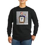 Church Coffee Long Sleeve Dark T-Shirt