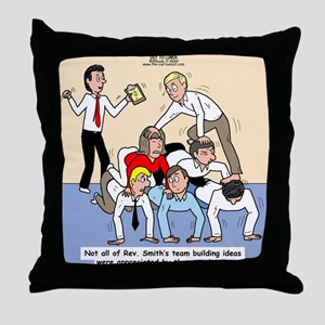 Team Building Throw Pillow