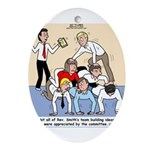 Team Building Ornament (Oval)