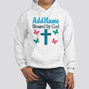 BLESSED BY GOD Hooded Sweatshirt